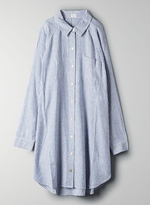 BOYFRIEND BUTTON-UP DRESS