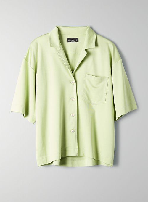 BOWLING SHIRT - Short-sleeve, button-front blouse