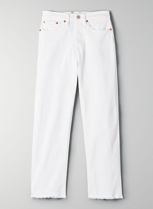WEDGIE STRAIGHT - Cropped, high-waisted jeans