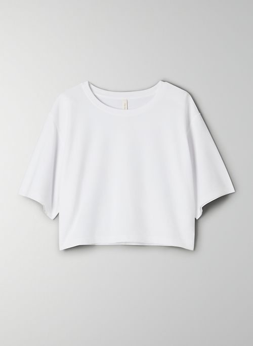 FOUNDATION CROPPED CREW T-SHIRT - Cropped, Pima Cotton crew-neck t-shirt