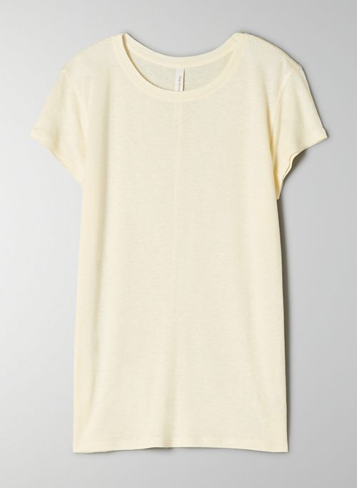 FOUNDATION CREW - Classic linen crew-neck t-shirt