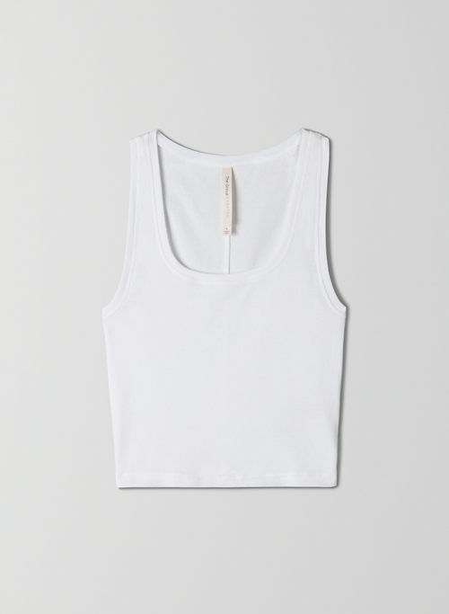 FOUNDATION RIB SCOOP TANK - Ribbed cropped tank top