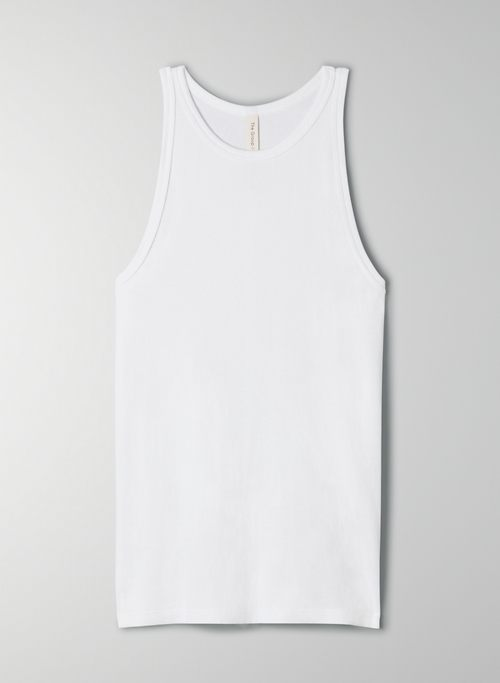 FOUNDATION RIB RACER TANK - Ribbed, racerback tank top