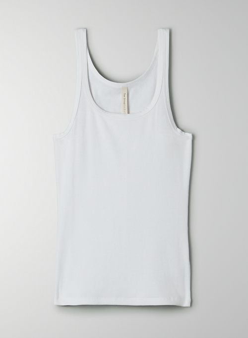 FOUNDATION RIB TANK - Foundation rib Pima Cotton scoop-neck tank