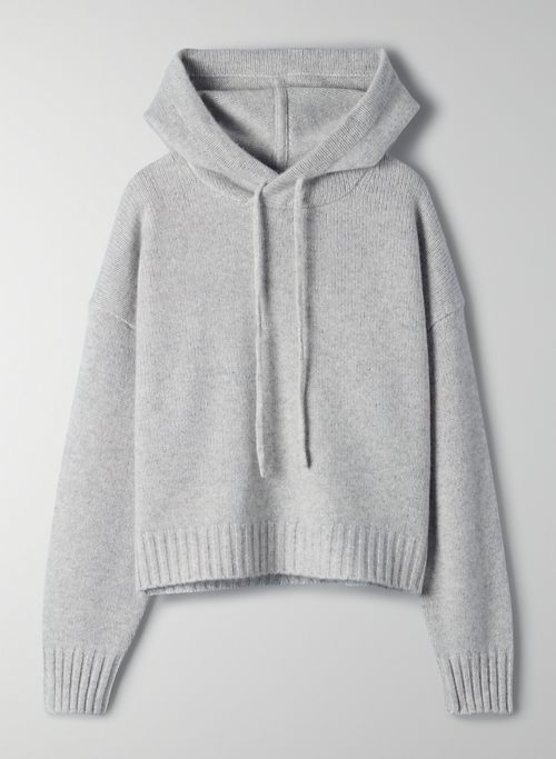 LUXE CASHMERE HOODIE - Relaxed cashmere hoodie