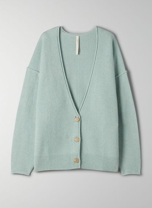 LUXE CASHMERE CARDIGAN - V-neck cashmere cardigan