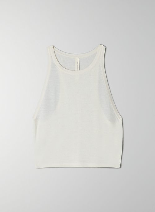 JASMINE SWEATER - Cropped, cashmere tank top