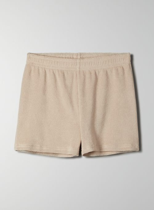 TOURIST SHORT - High waisted fleece shorts