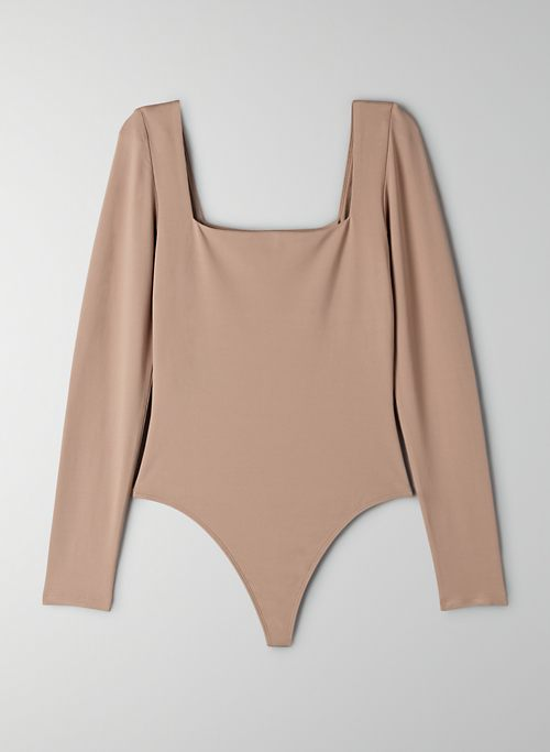 CONTOUR LONGSLEEVE BODYSUIT - Long-sleeve, square-neck bodysuit