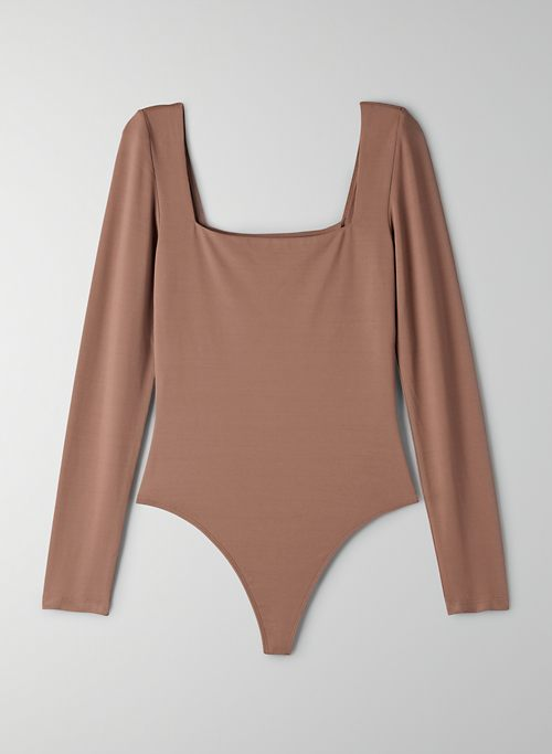 CONTOUR LONGSLEEVE BODYSUIT - Long-sleeve, square-neck bodysuit