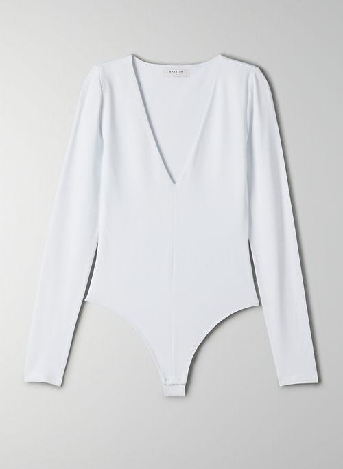 CONTOUR V-NECK LONGSLEEVE BODYSUIT - Long-sleeve, V-neck bodysuit