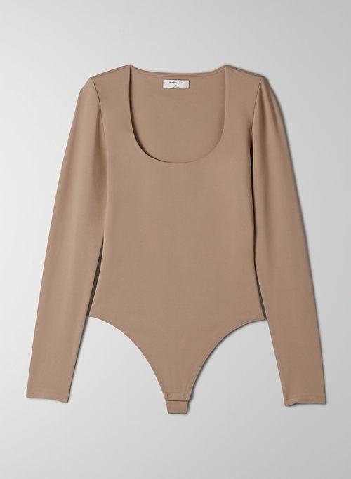 CONTOUR SCOOPNECK LONGSLEEVE BODYSUIT - Long-sleeve bodysuit with snap-closure gusset