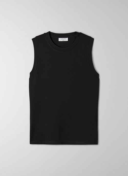 HARRIET TANK - Crew-neck muscle tank top