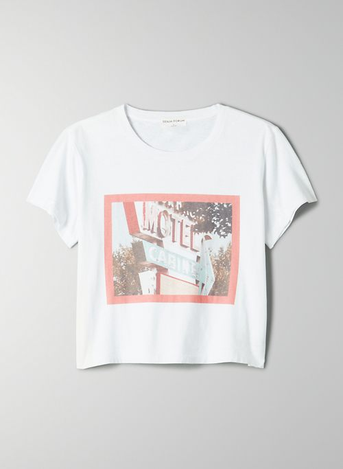 THE KATE CROP TEE - Graphic cropped, crew-neck t-shirt