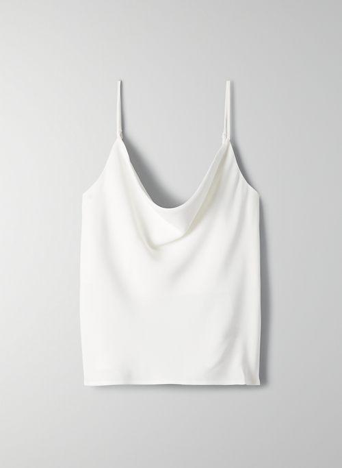 COWLNECK CAMISOLE - Satin cowl-neck camisole