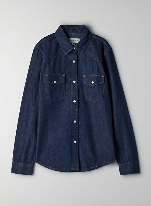 THE GIA WESTERN SHIRT - Denim button-up