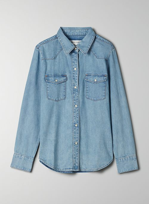 THE GIA WESTERN SHIRT - Button-up denim shirt