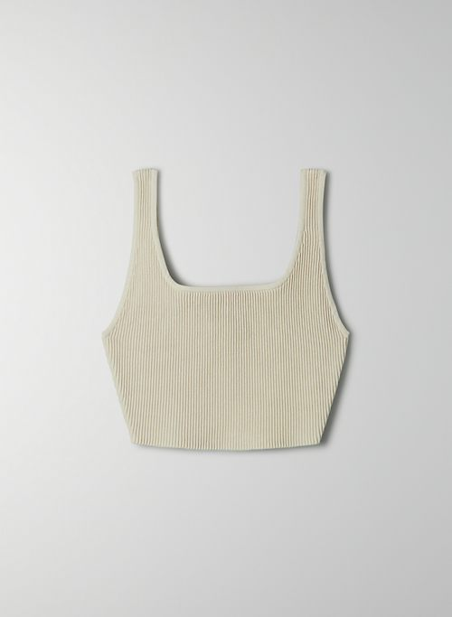 SCULPT KNIT TANK - Cropped, ribbed tank top