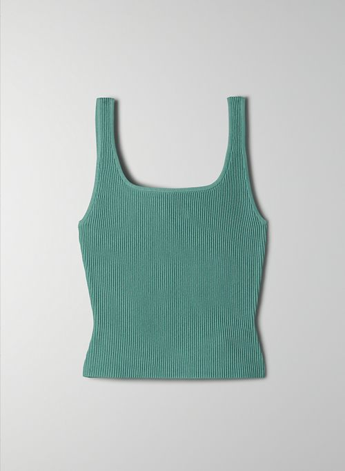 SCULPT KNIT TANK - Ribbed knit tank