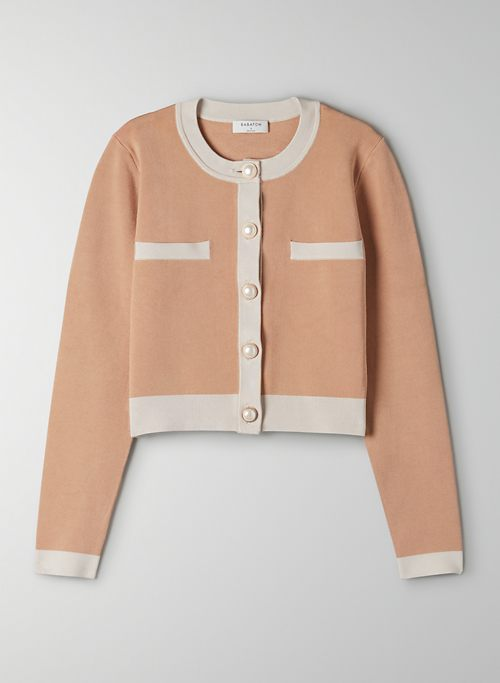 LEGACY CARDIGAN - Cropped crew-neck cardigan