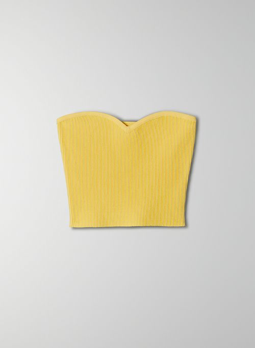 SCULPT KNIT SWEETHEART TOP - Strapless sweetheart crop top