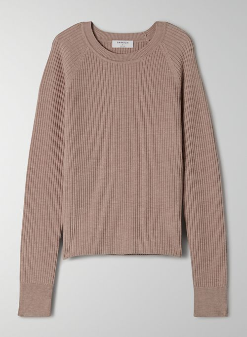 JAMES SWEATER - Lightweight, rib-knit crew-neck sweater