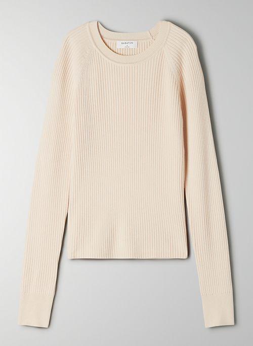 JAMES SWEATER - Lightweight, rib-knit crew-neck sweater