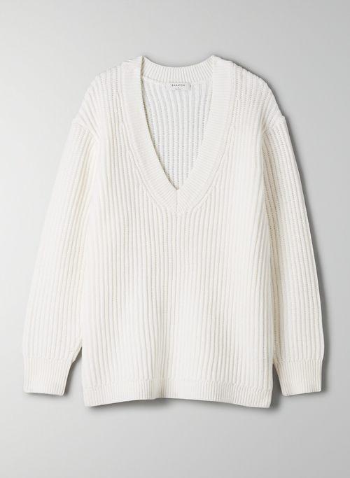 ROGER SWEATER - V-neck merino wool sweater