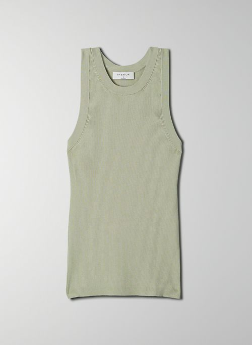 BETSY SWEATER - Ribbed racerback tank top