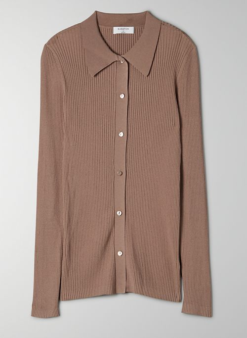 FINLEY SWEATER - Lightweight button-up sweater