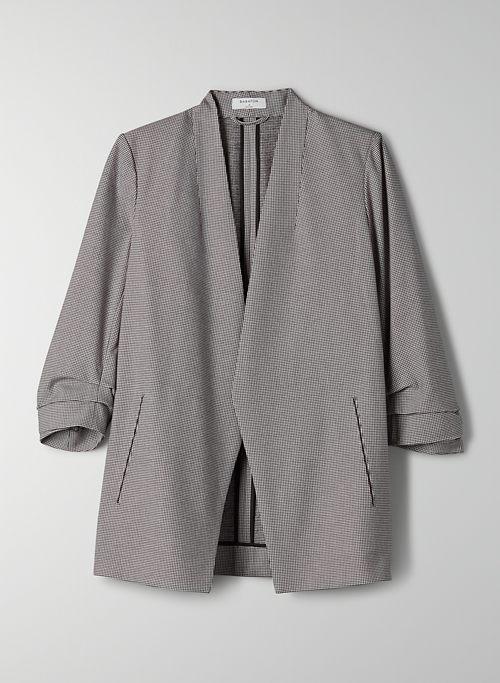 POWER BLAZER - 3/4-sleeve plaid blazer