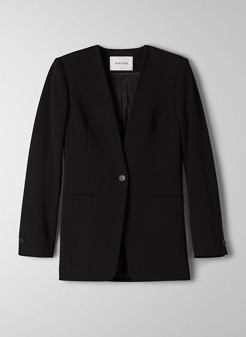 ROCKWELL BLAZER - Collarless slim-fit blazer