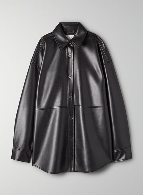 PELLI SHIRT JACKET - Faux leather shirt jacket