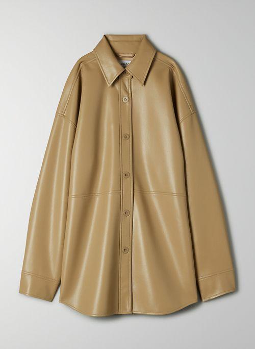 PELLI JACKET - Vegan Leather shirt jacket