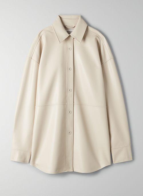 PELLI SHIRT JACKET - Vegan Leather shirt jacket