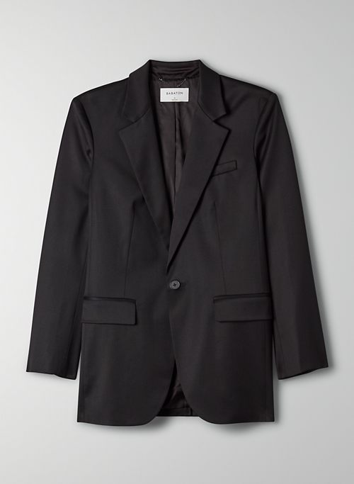 AGENCY BLAZER - Relaxed-fit, single-breasted blazer