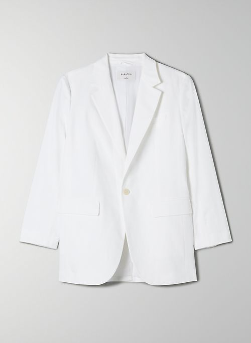 AGENCY BLAZER - Relaxed, single-breasted cotton blazer