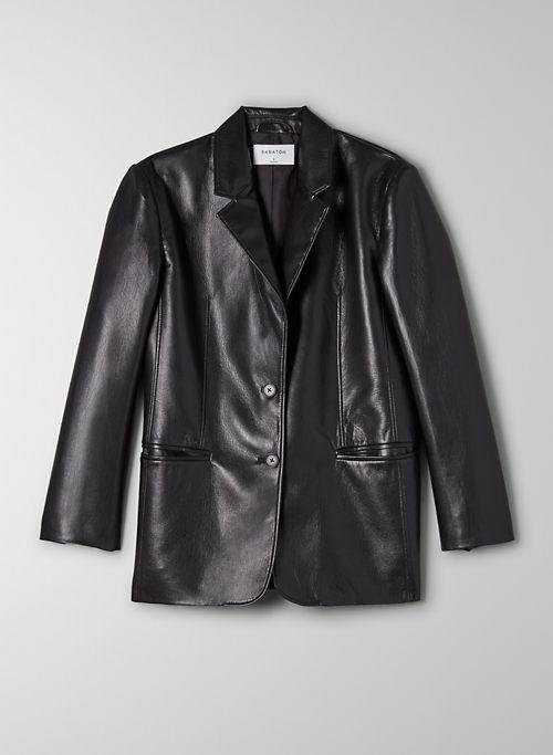 SMITH BLAZER - Faux leather blazer