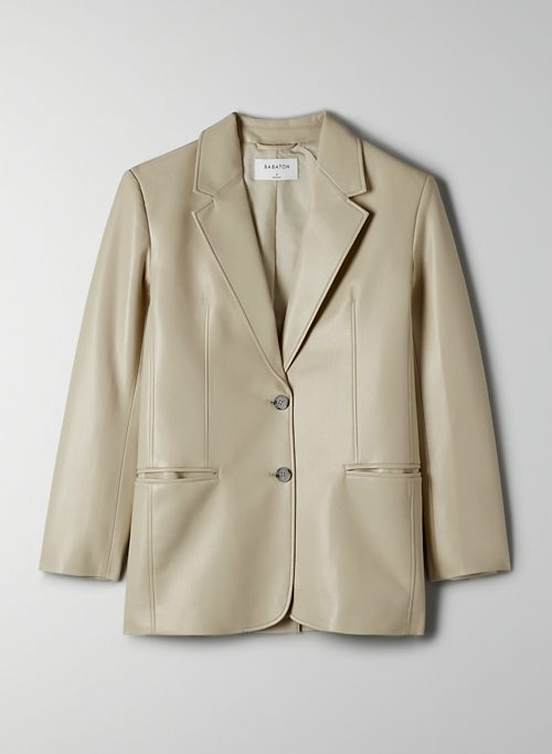 SMITH BLAZER - Faux leather blazer