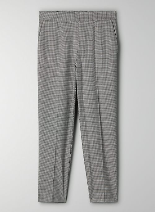 CONAN PANT - Cropped plaid dress pant