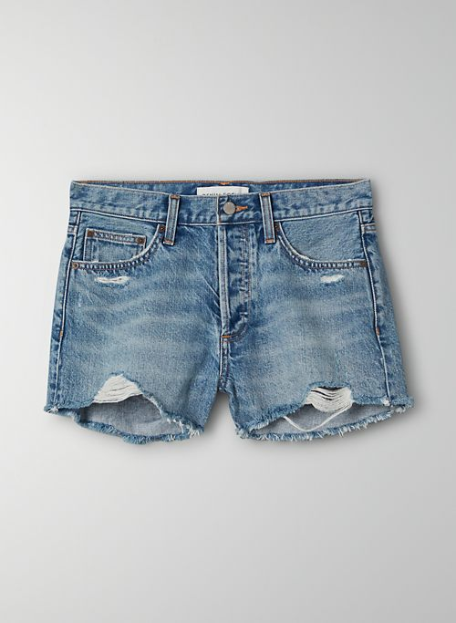 THE EX BOYFRIEND SHORT - Relaxed mid-rise denim cut-off short