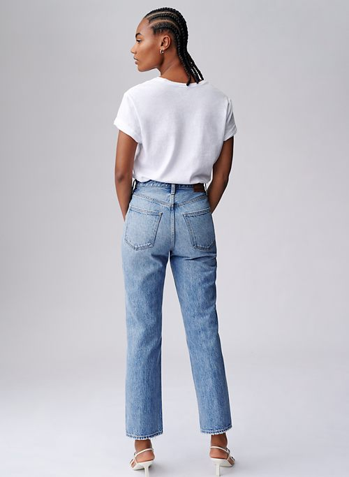 THE JONI HIGH RISE LOOSE 29L - Super high-waisted, straight leg jeans