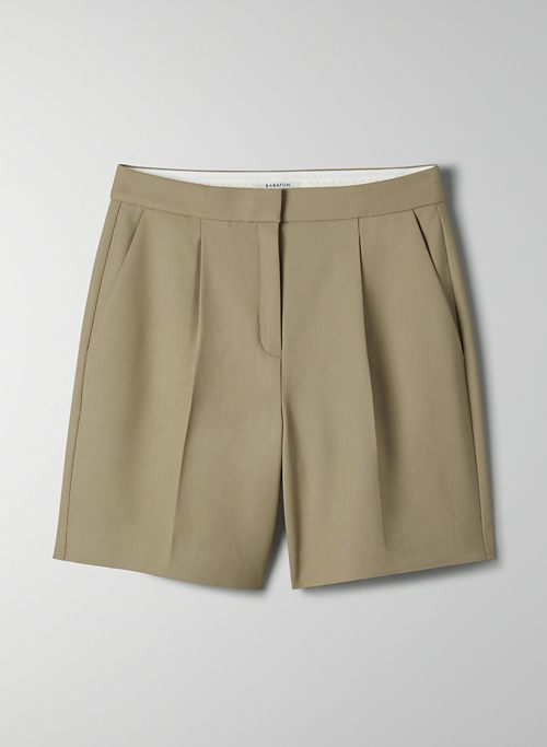 NELLIE SHORT - Mid-rise wool short