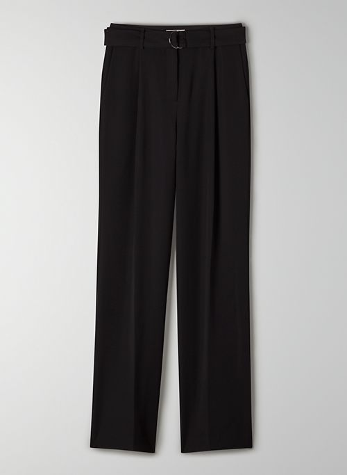 AMIRA PANT - Belted, high-waisted, wide-leg pant