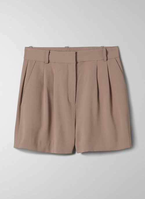 KENNEDY SHORT - High-waisted pleated shorts