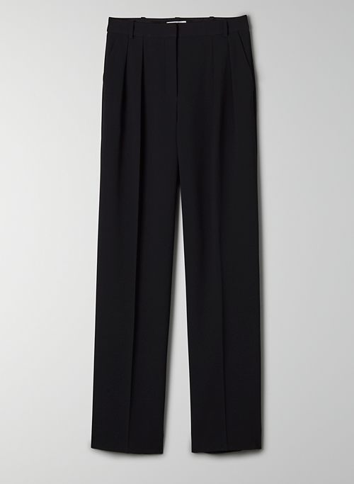FLETCHER PANT - High-waisted, wide-leg pleated pant