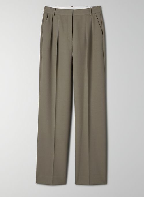 FLETCHER PANT - High-waisted, wide-leg pleated pants