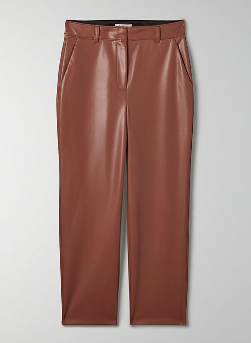 COMMAND PANT - Mid waisted faux leather pants