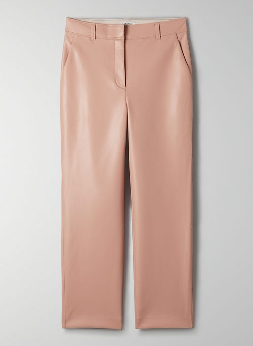 COMMAND PANT - Mid-rise Vegan Leather pants