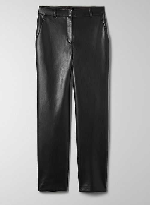 COMMAND PANT - Mid-rise Vegan Leather pants